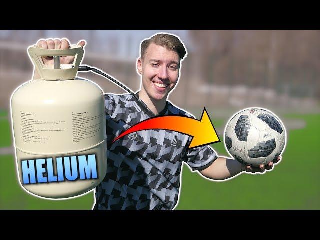 Heliumilla täytetty jalkapallo! - Lentääkö pidemmälle?