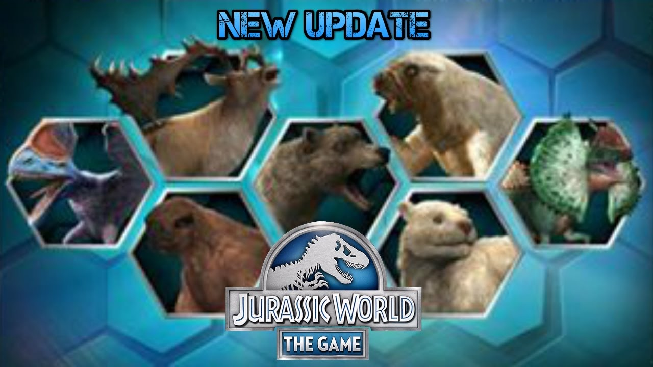 5 New Cenozoic 2 New Hybrids More Jurassic World The Game
