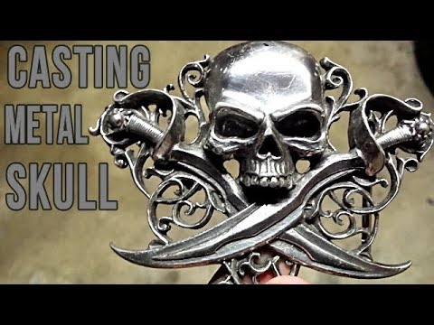 Casting A Metal Skull Out of Bismuth Metal
