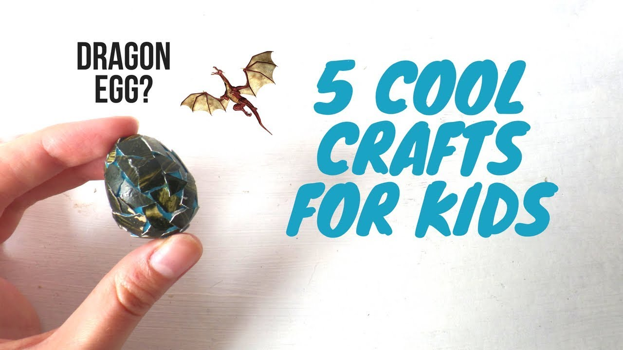 5 Cool Crafts For Kids To Do At Home Using Household Items Easy DIY Craft Ideas Boys And Girls