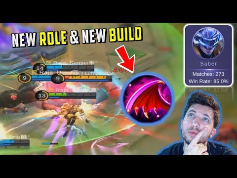 MY NEW SABER META & BUILD! MUST WATCH ! - Mobile Legends