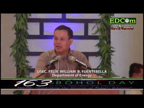 USEC  Felix William B. Fuentebella (163rd Bohol Day)