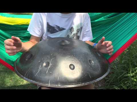 Sterling Tyler Playing His HandPan In His New Hammock