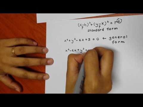 Circle: Converting general form to standard form using Completing the Square