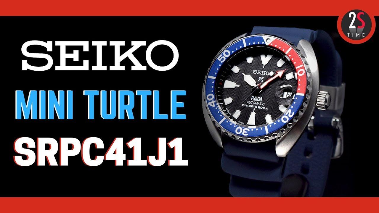 Seiko Padi Prospex Mini Turtle Srpc41j1 Automatic Diver Watch 200m
