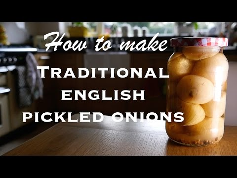 Pickled Onions. How To Make Pickled Onions. Home Made Gift! Recipe At End Of Video.