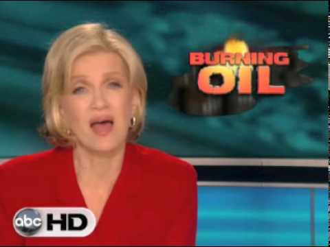 With Oil Still Spewing Out of Sunken Rig, Gulf of Mexico Set On Fire