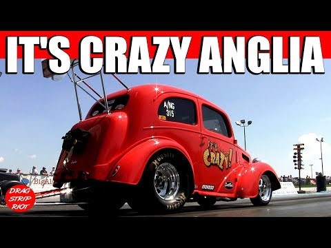 2013 Gassers Drag Racing Car It's Crazy Anglia Gasser Reunion Thompson Raceway Park Video
