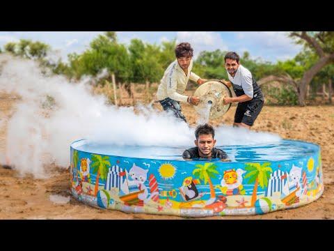 अब आयेगा मज़ा - Liquid nitrogen in water pool