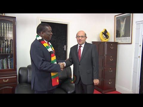 Egyptian ambassador bids President Mnangagwa farewell