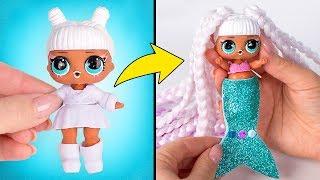 Umstyling einer L.O.L.-Puppe in eine Meerjungfrau