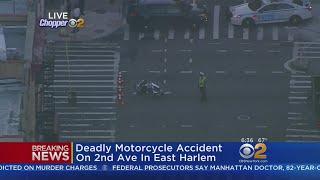 Deadly Motorcycle Crash In East Harlem