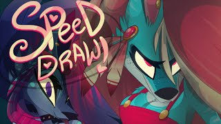 SPEED DRAW- Werewolf Girls (Zoophobia) -Vivziepop