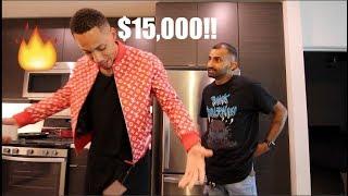 $15,000 LOUIS VUITTON X SUPREME JACKET PRESENT PRANK!!