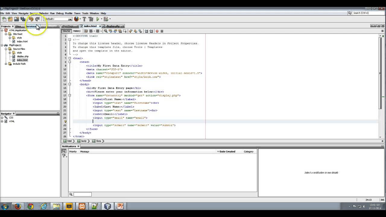 Ch 2 - Send Data from HTML form to PHP form using POST array - YouTube