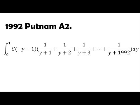 A Battle Against Putnam Integral (1992 A2)