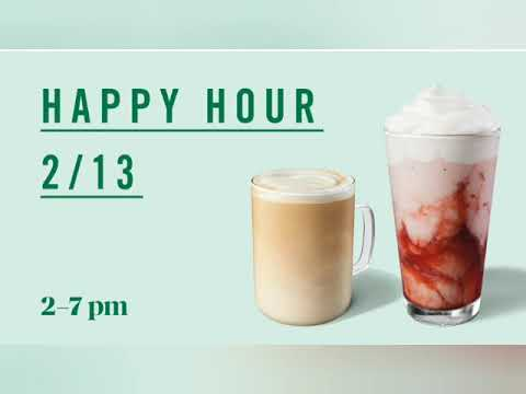 Starbucks • Happy Hour 2/13/20 ☆☆☆☆☆ 2-7 Pm ONLY • Couponing