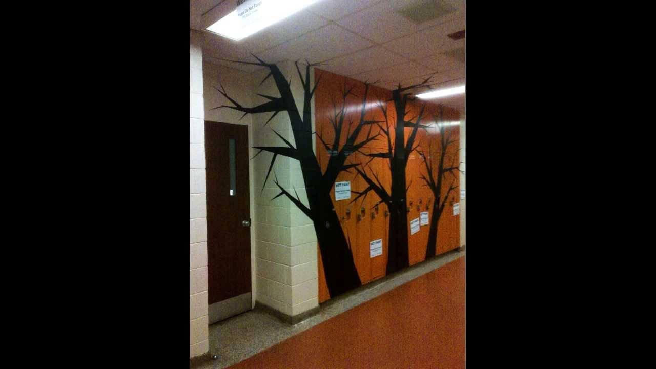 TREES OF HALLOWEEN   Amazing High School Wall Mural!!!   YouTube Part 33