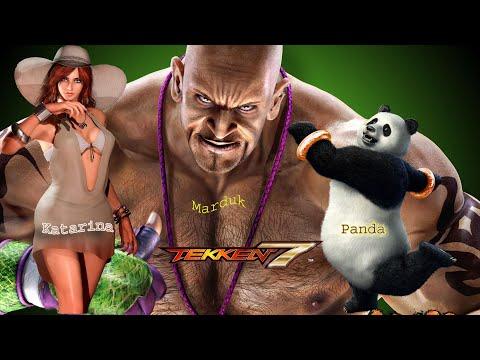 Tekken 7 Gameplay Panda Vs Marduk & Katarina |