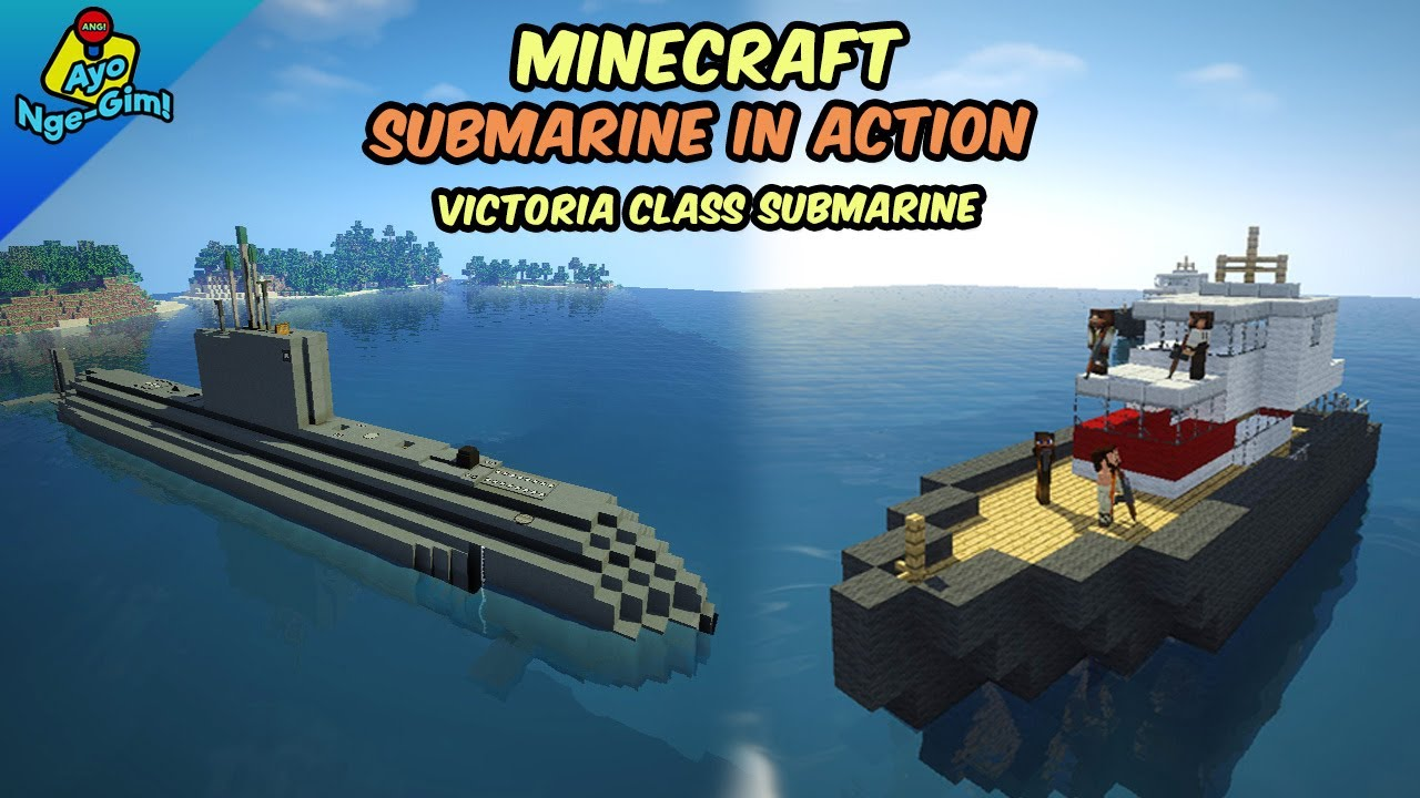 Submarine Action in Minecraft ( Victoria Class Submarine ) | Little Tiles Mod
