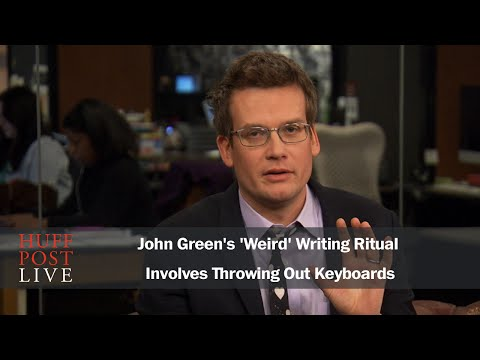 John Green's 'Weird' Writing Ritual Involves Throwing Out Keyboards
