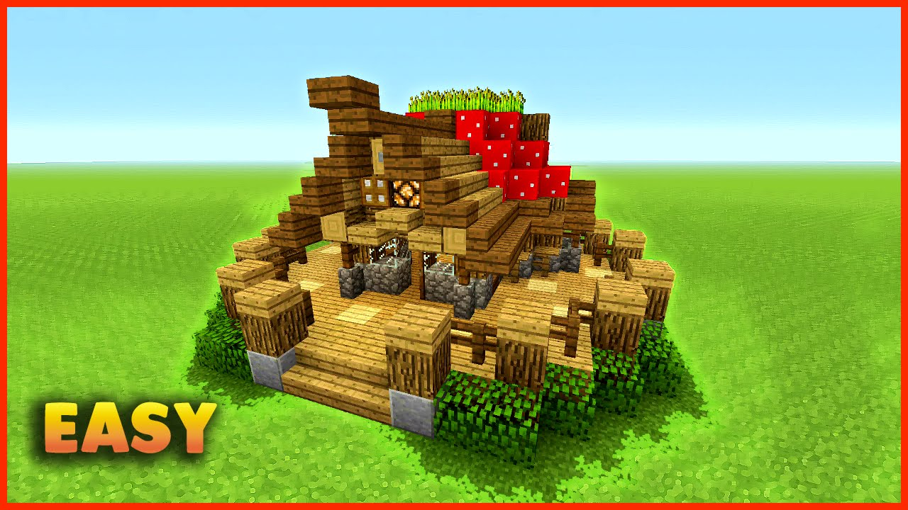 Minecraft How To Build A Small Mushroom House Tutorial