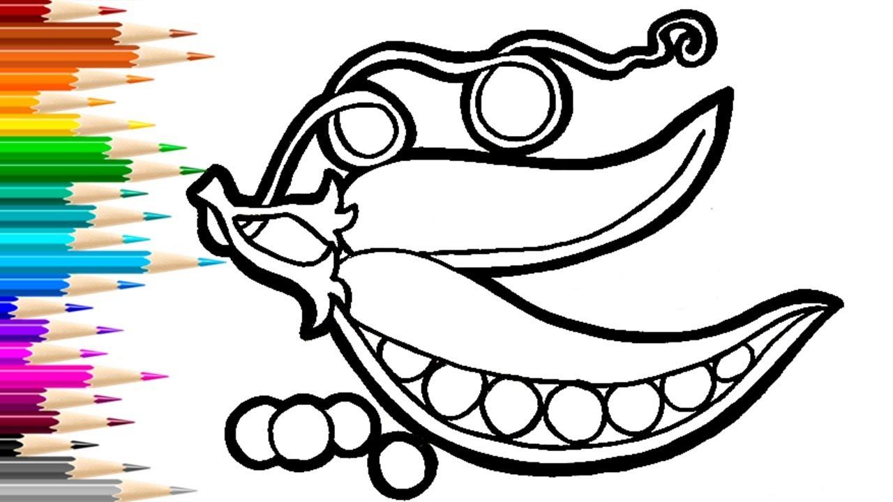 Как нарисовать ГОРОХ / раскраска для детей / Нарисуй Ка ...