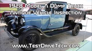1928 Ford Model A Dump Truck Antique Vehicle Inspection Video