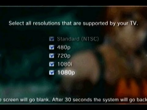 How To Change PS3 To HD Using Component...