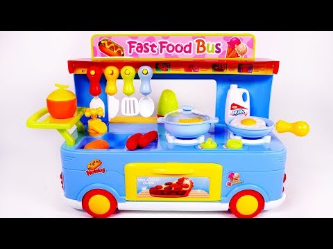 Fast Food Truck for Kids Cooking Kitchen Toy Playset for Kids