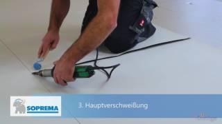 Soprema - Verarbeitungsvideo Handverschweißung