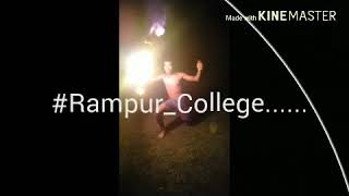 Rampur College fire dance