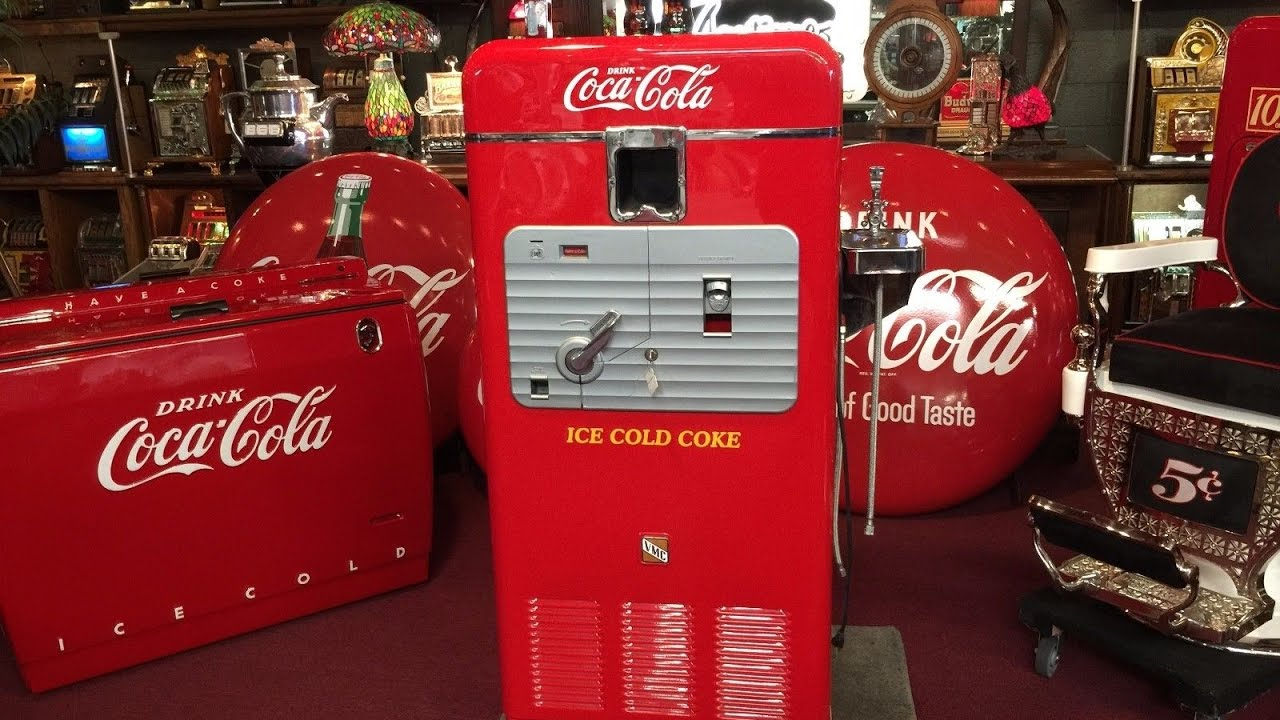 1950's VMC 33 Coke Vending Machine w/ Water Fountain SOLD