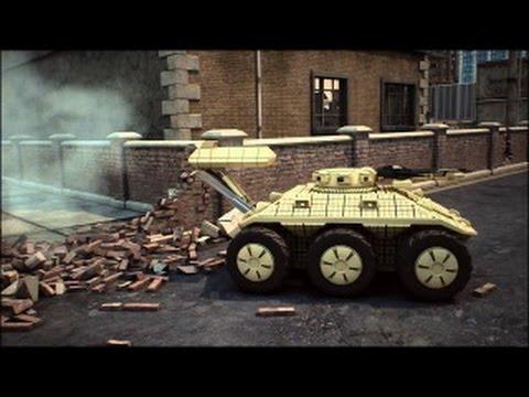 СКОРПИОН-бронированный беспилотный робот-ДРОН для уличного боя.Документальное видео