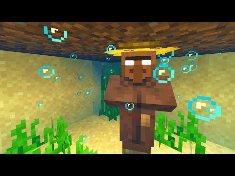 Trapping a Minecraft villager under water for 24 hours..