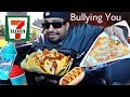 Gas Station 7-Eleven MUKBANG: Chili Cheese Nachos, Wings, Slurpee, Hot dogs, Pizza Eating Show