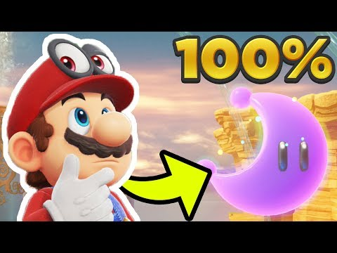 Super Mario Odyssey - Seaside Kingdom ALL 71 POWER MOON LOCATIONS! [100% Guide]