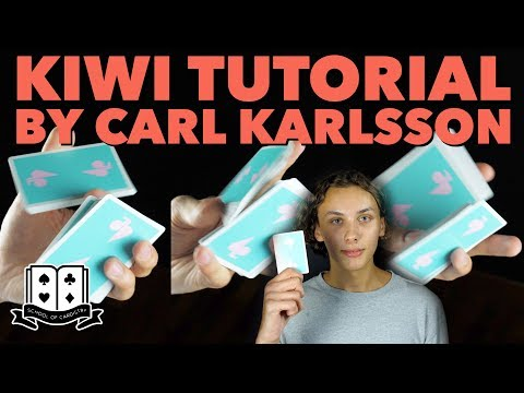 Cardistry for Beginners: One-handed Cuts - Kiwi Tutorial by Carl Karlsson