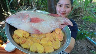 Yummy Fish Cooking Fish Egg - Fish Egg Soup Recipe - Cooking With Sros