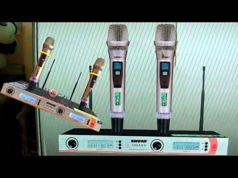 Micro SHURE - 8009 không dây [ giá rẻ hát karaoke sướng mồm luôn ]