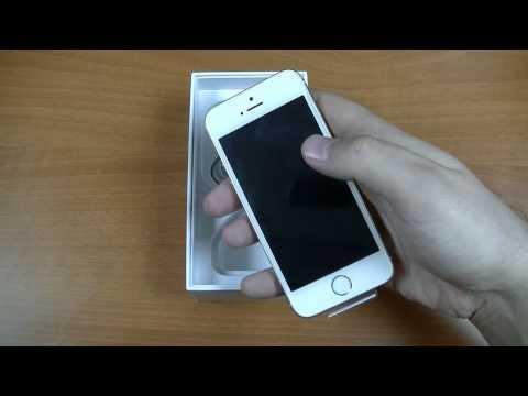 Apple IPhone 5s Gold / Золотой. Комплектация и внешний вид. Распаковка. VeryVery.ru