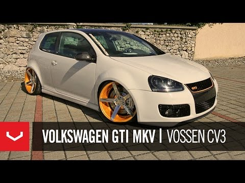"Volkswagen GTI MKV on 20"" Vossen VVS-CV3 Concave wheels / Rims"