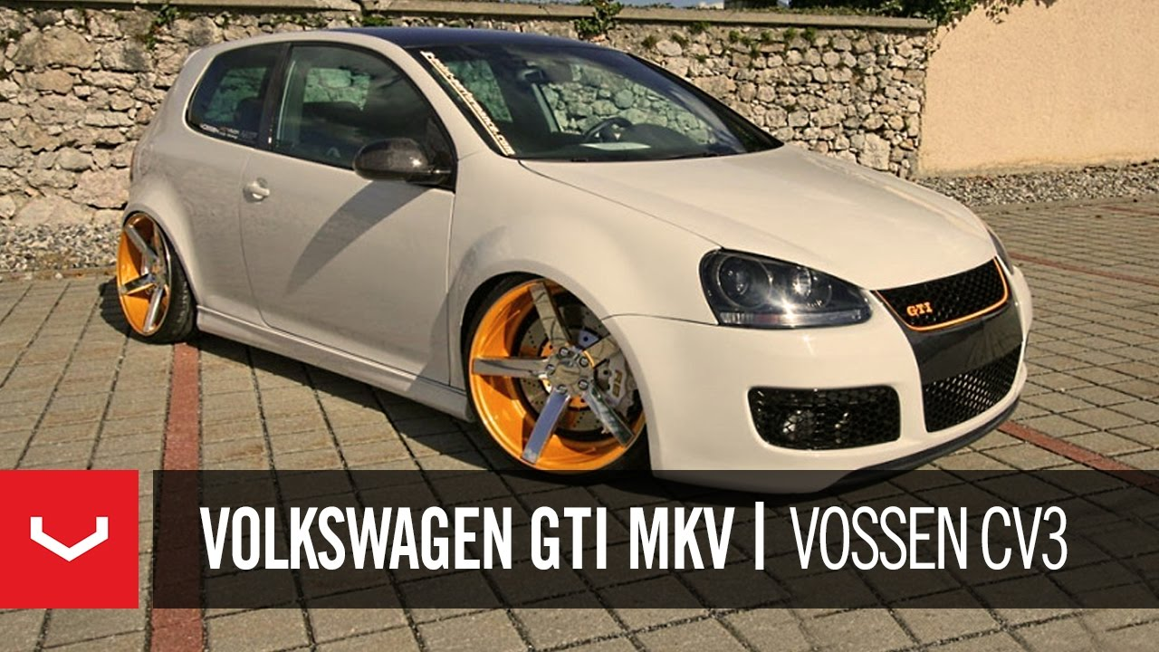 Volkswagen Gti Mkv On 20 Vossen Vvs Cv3 Concave Wheels Rims Youtube