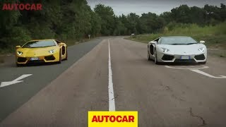 Lamborghini Aventador Roadster vs Aventador coupe - full length challenge video