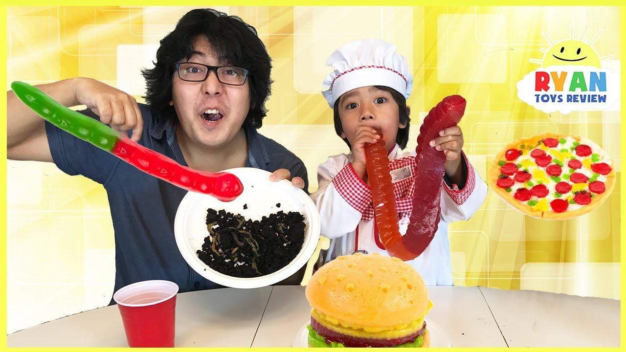 Gummy Food Vs Real Food Pizza Challenge Youtube