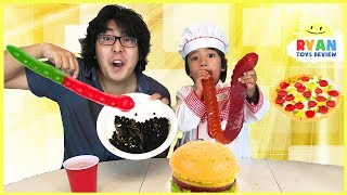 Gummy Food vs Real Food & Pizza Challenge