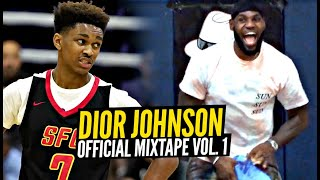 Dior Johnson Is THE BEST 15 Year Old Point Guard!! Even LeBron Is Impressed! Official Mixtape!