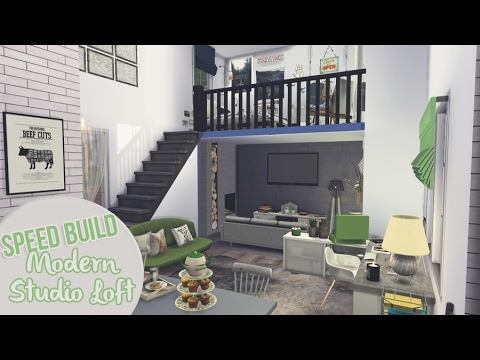 MODERN STUDIO LOFT | The Sims 4 Speed Build
