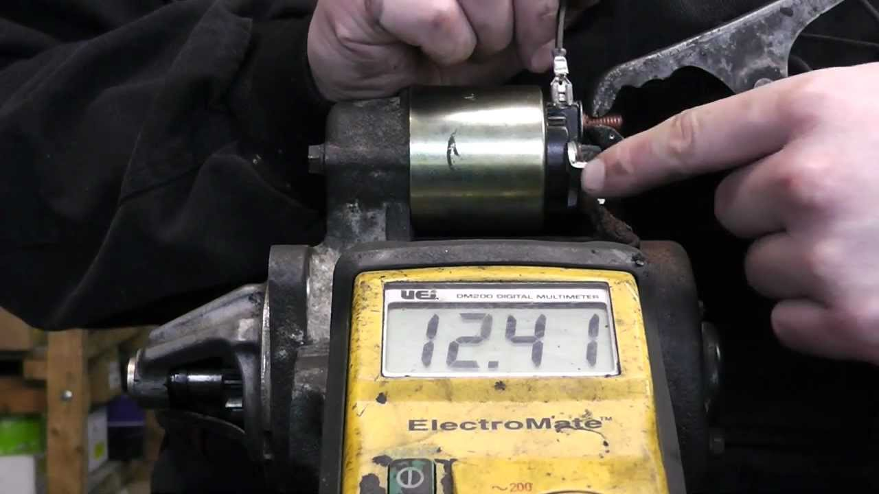 How To Bench Test Starter Motor Youtube