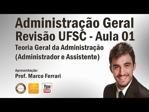 Revisão UFSC - Aula 01 (TGA - Teorias e Conceitos)